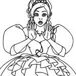 Beautiful Disney Enchanted Princess Girl Shocked Coloring Pages