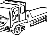 Bed Truck Coloring Page