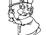 Big Man Playing Baseball Coloring Page