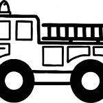 Big Tire Fire Department Coloring Page
