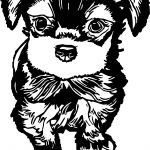 Black Cute Cartoon Dog Images Puppy Dog Coloring Page