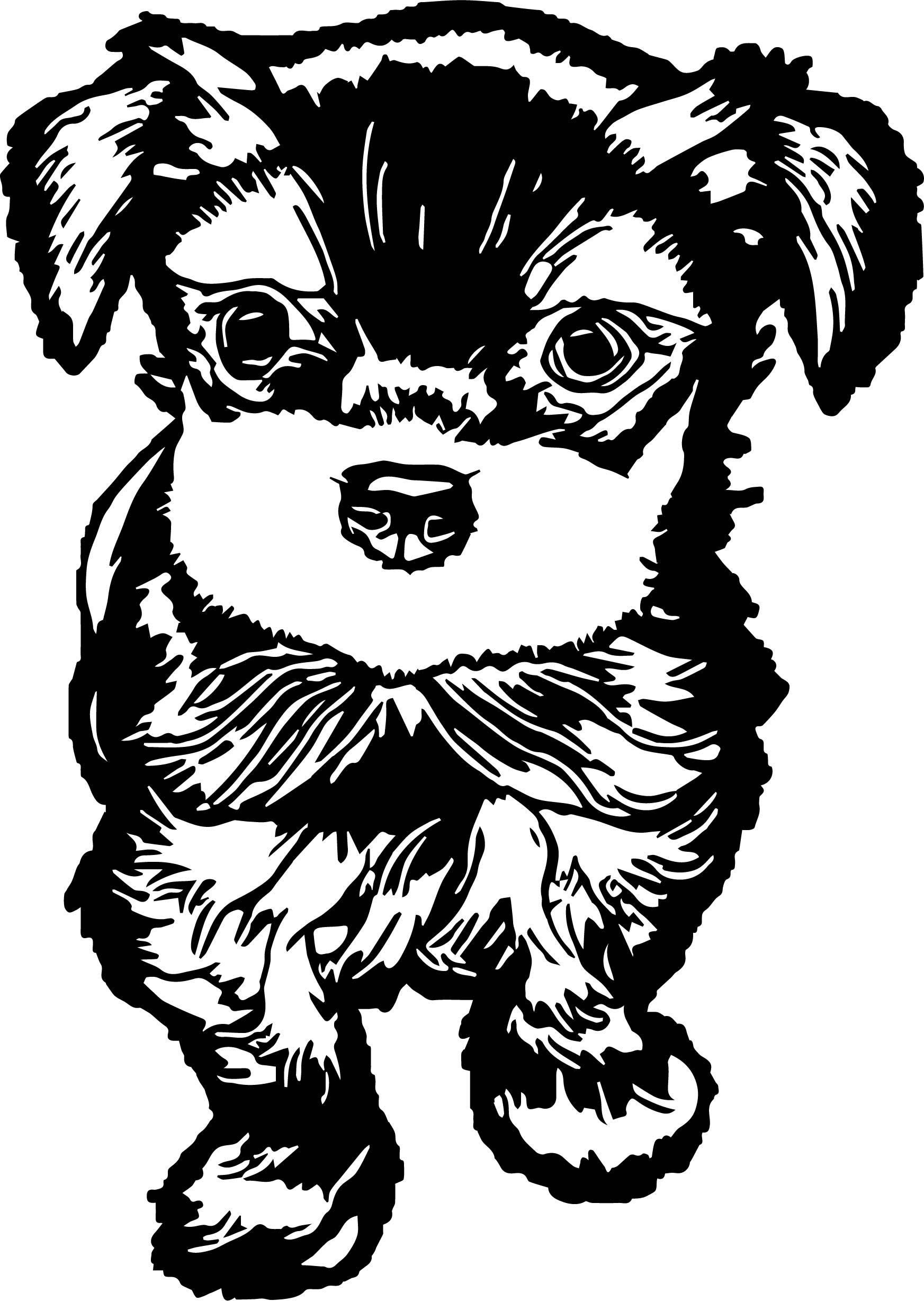 black cute cartoon dog images puppy dog coloring page wecoloringpage