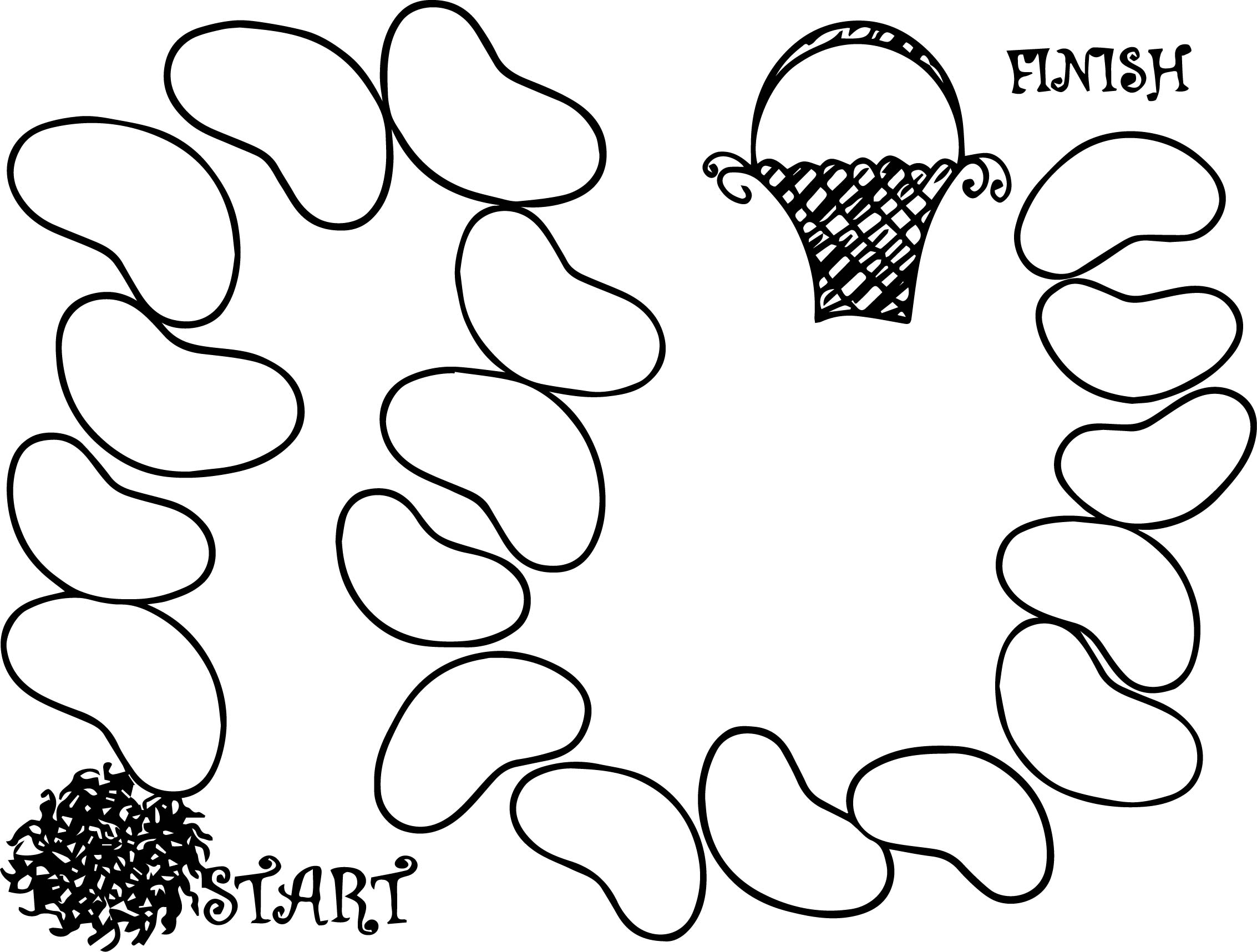 Board beans coloring page for Bean coloring page