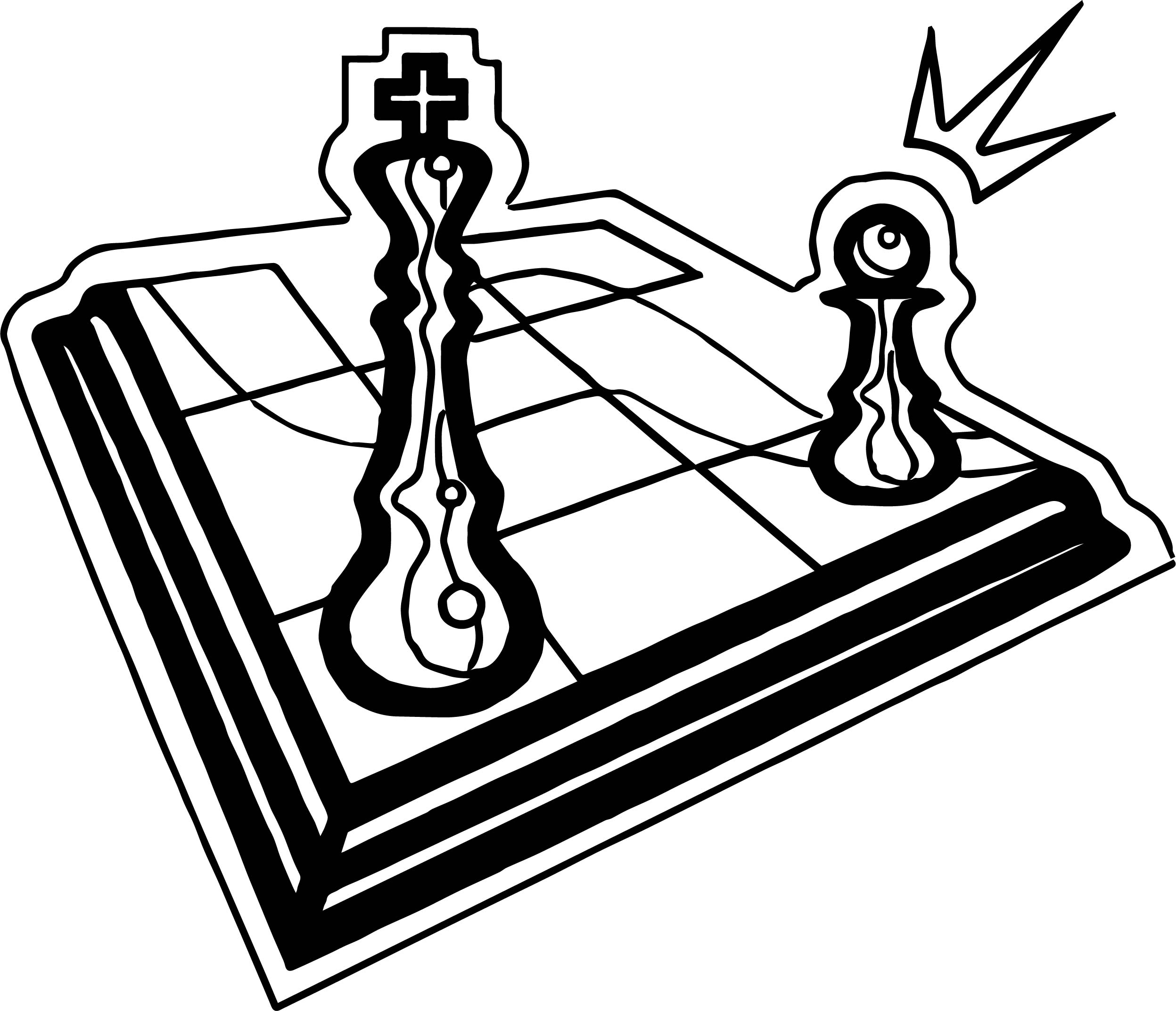 board chess go coloring page