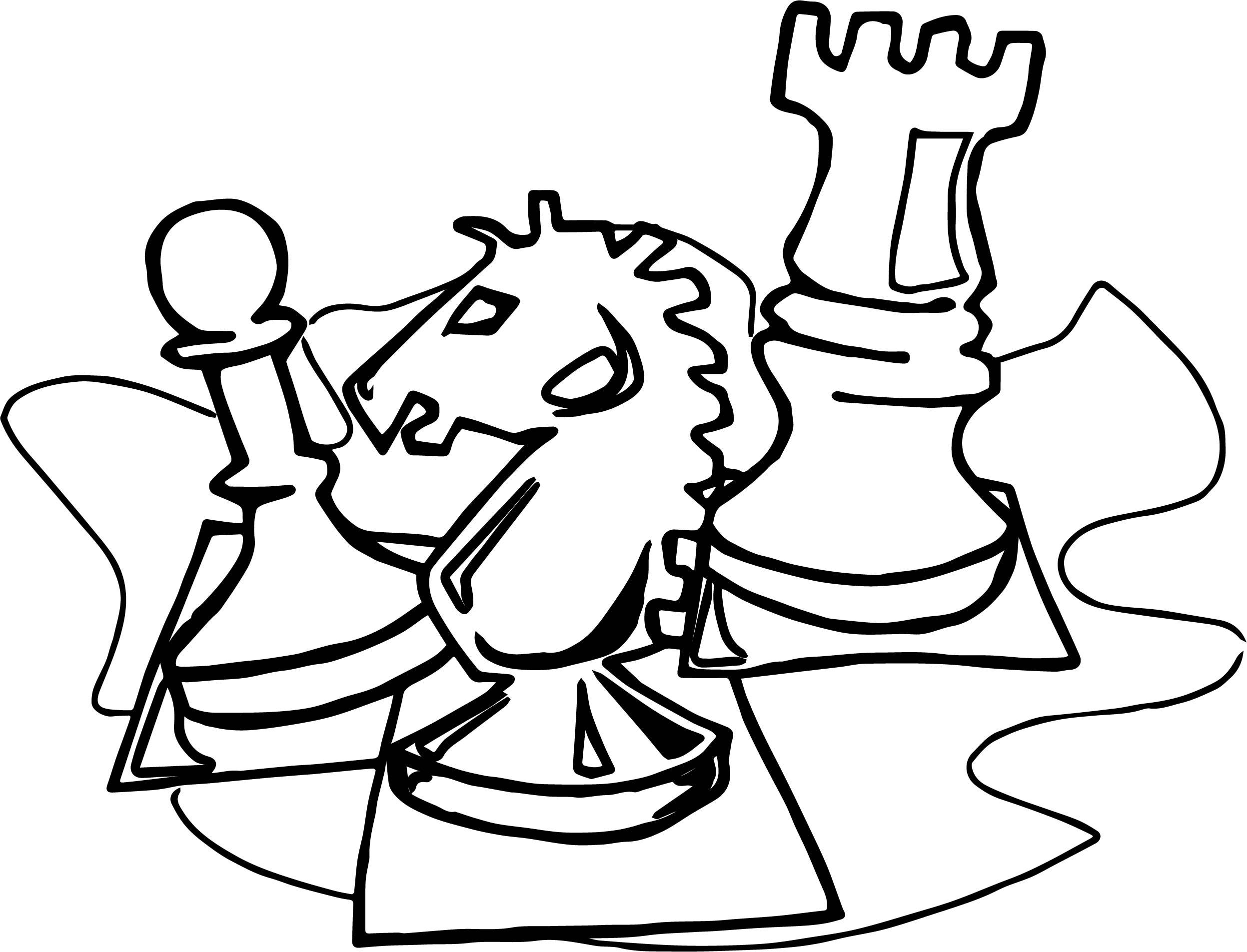 Board Chess Object Coloring Page