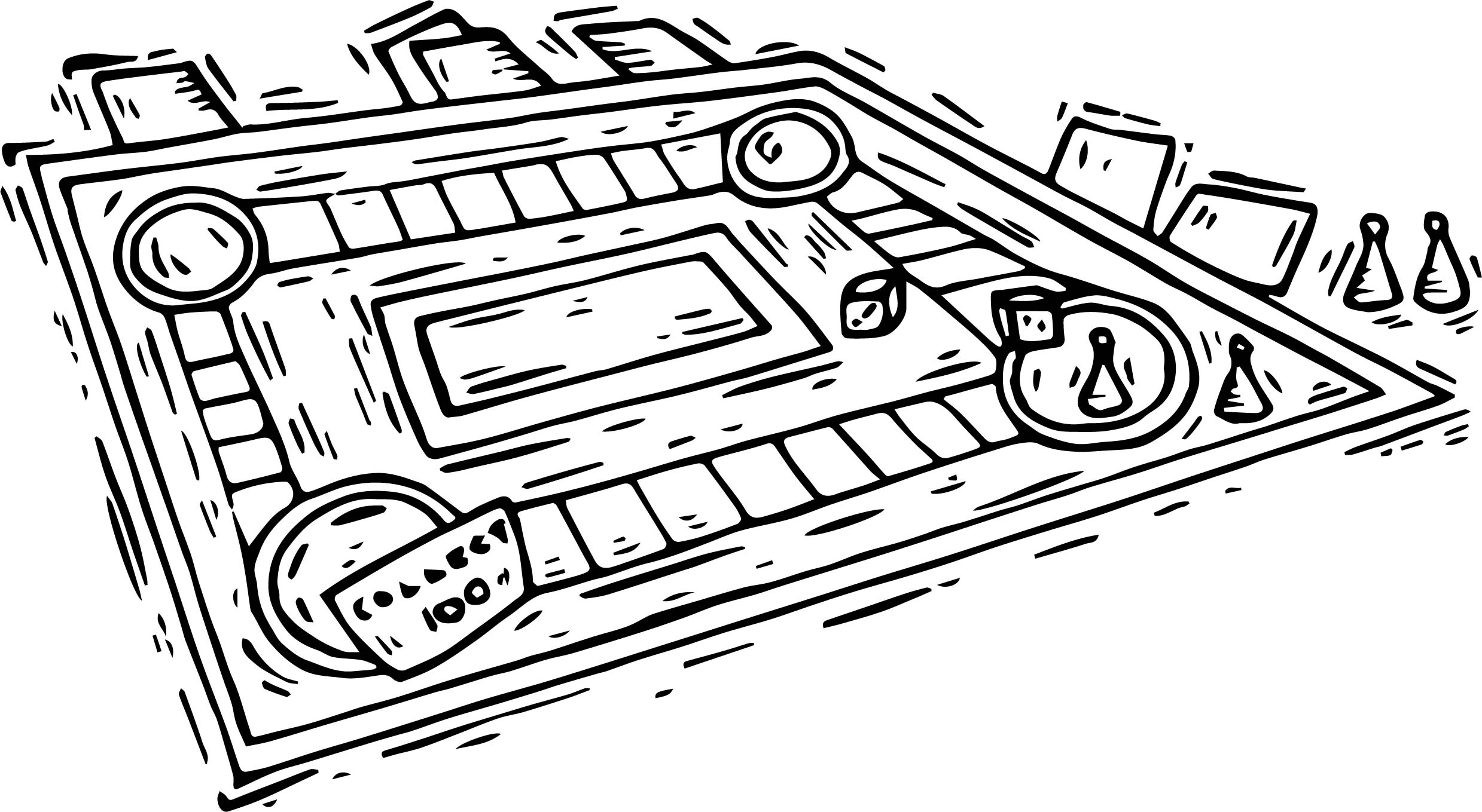 Board Collect Coloring Page