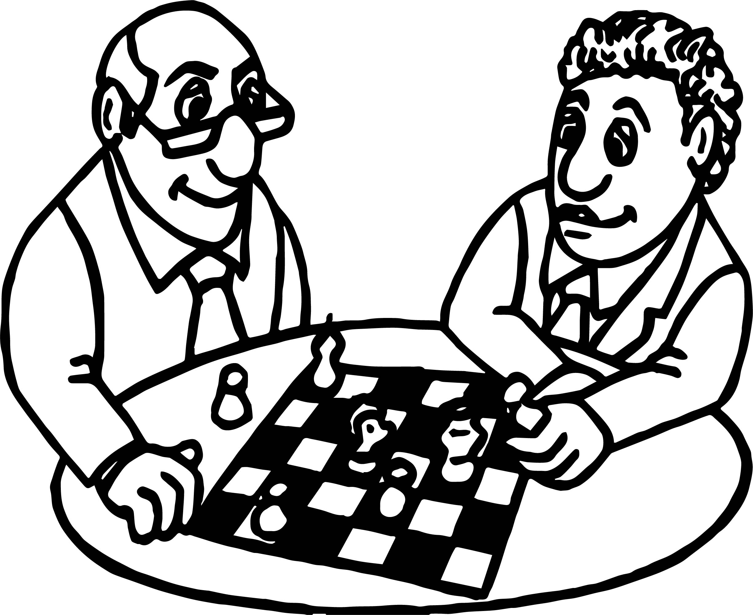 Board Man Coloring Page
