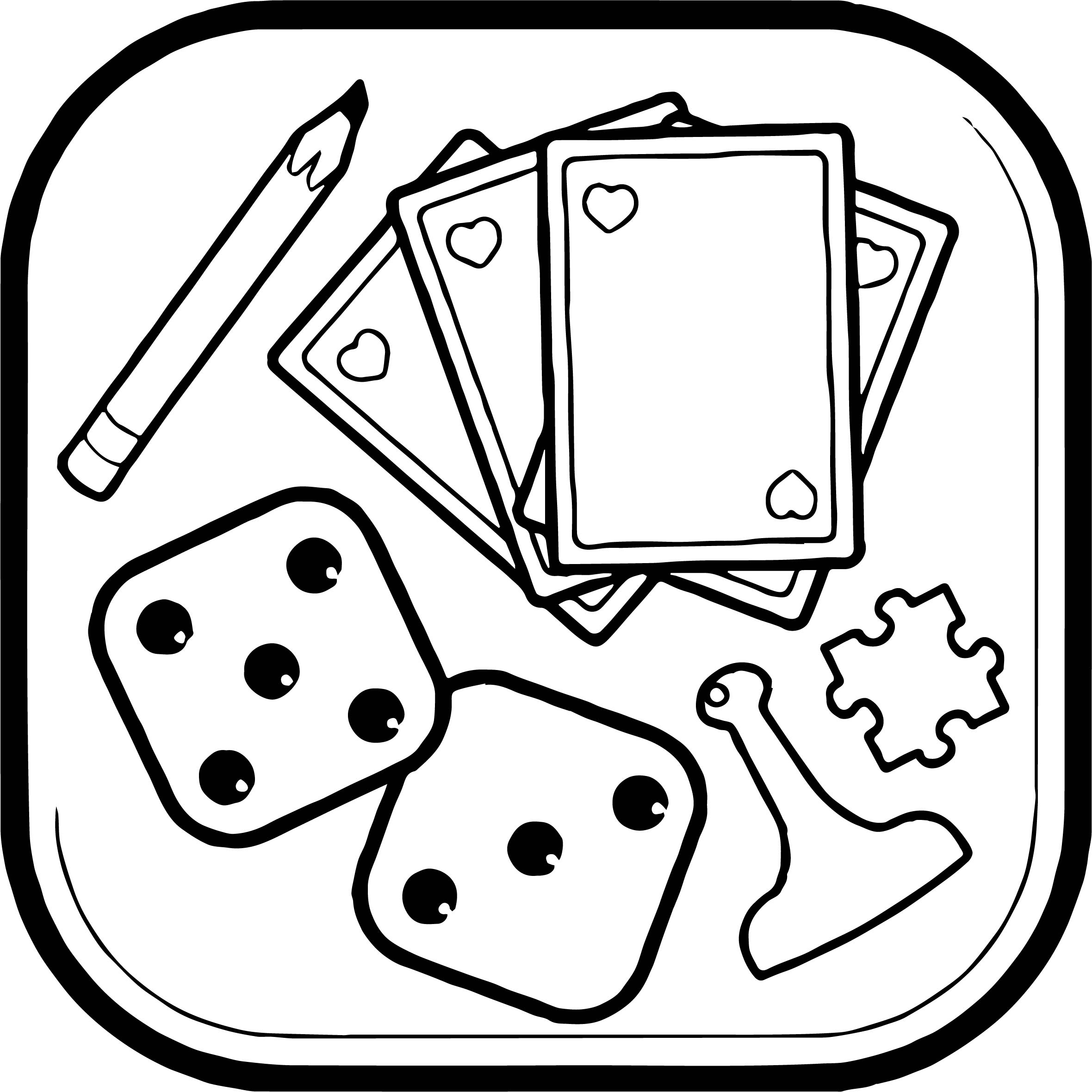 Board object coloring page for Coloring pages games