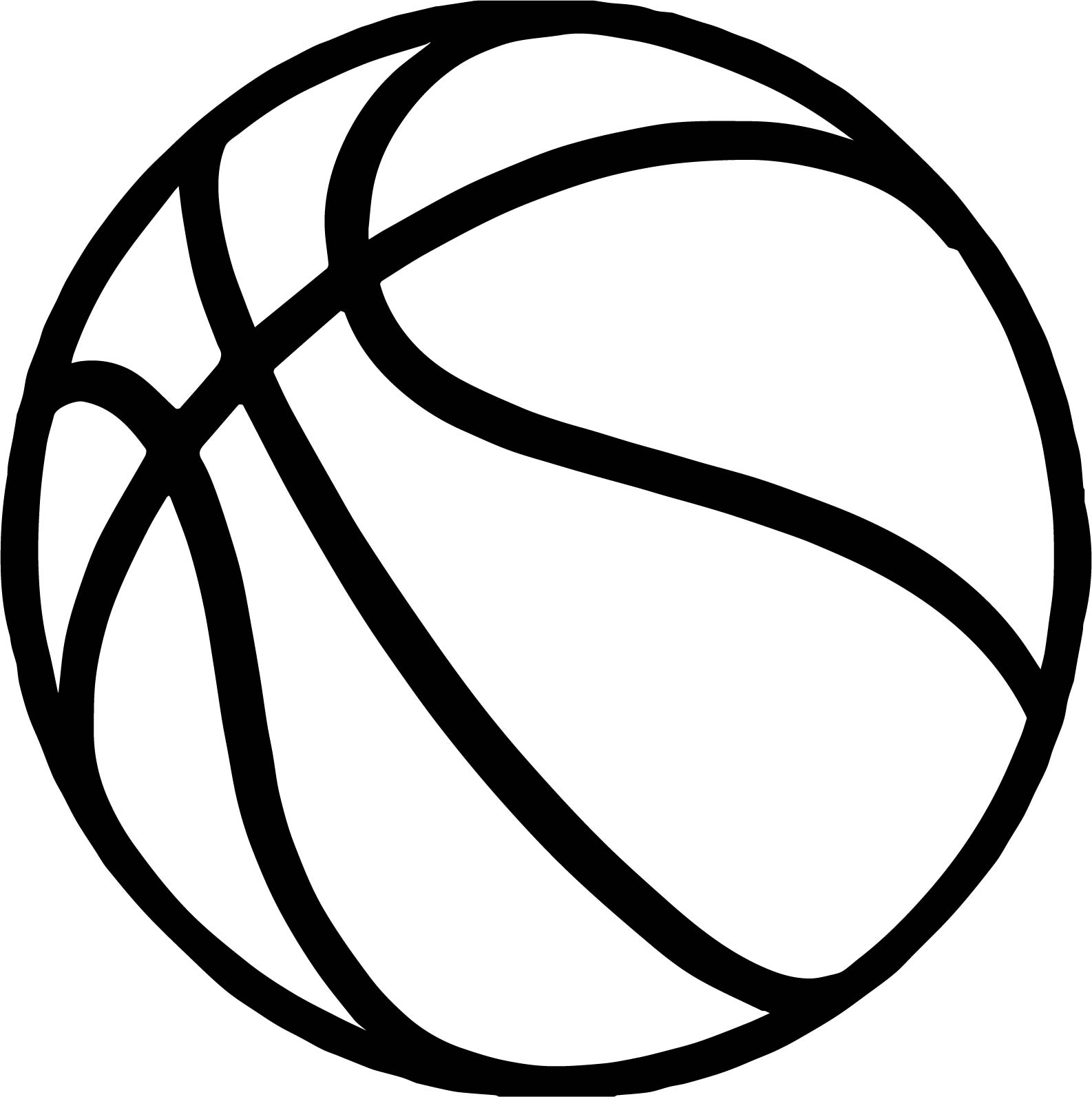 bold basketball ball coloring page wecoloringpage