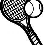 Bold Tennis Racket Coloring Page