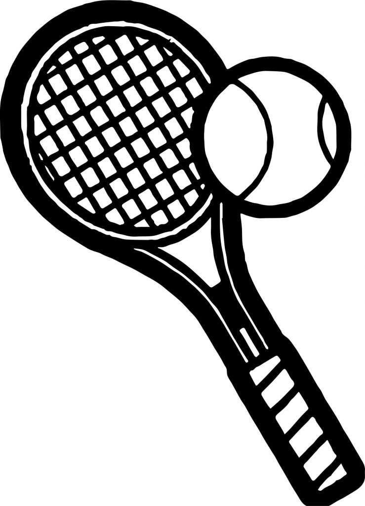 Exelent Tennis Racket Coloring Pages Illustration - Coloring Ideas ...