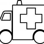 Box Ambulance Coloring Page
