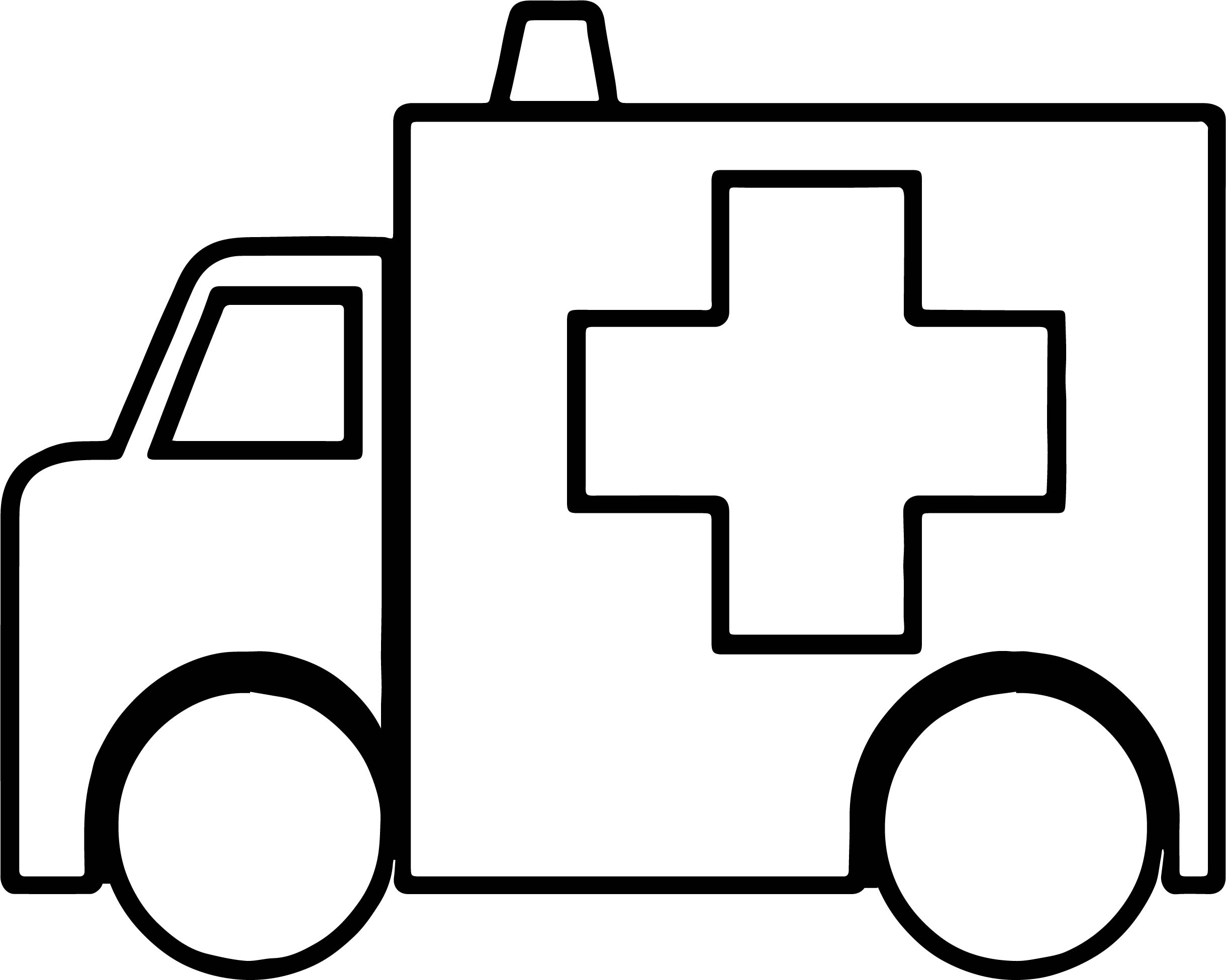 Box Ambulance Coloring Page