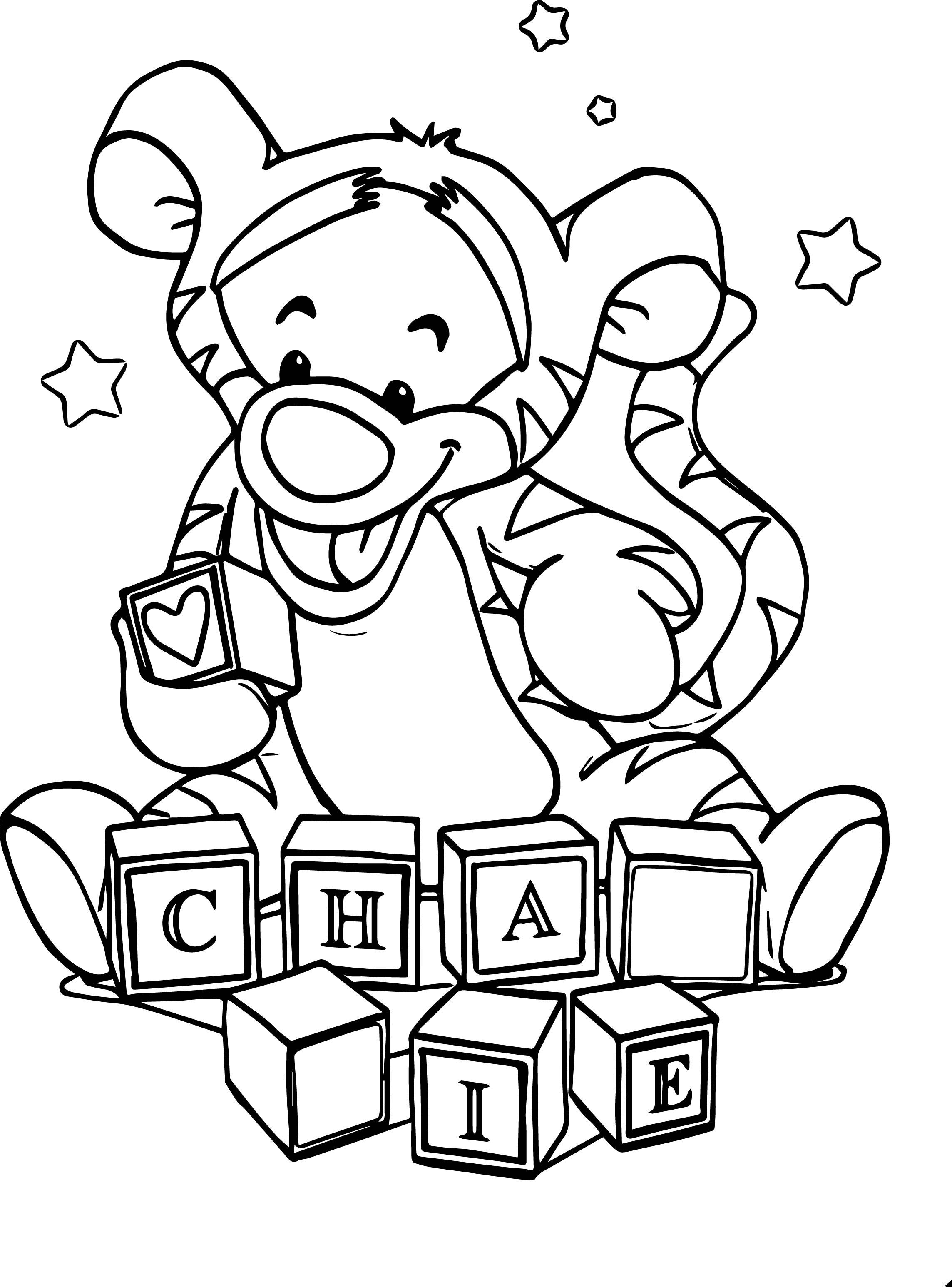 Box Baby Tigger Coloring Page