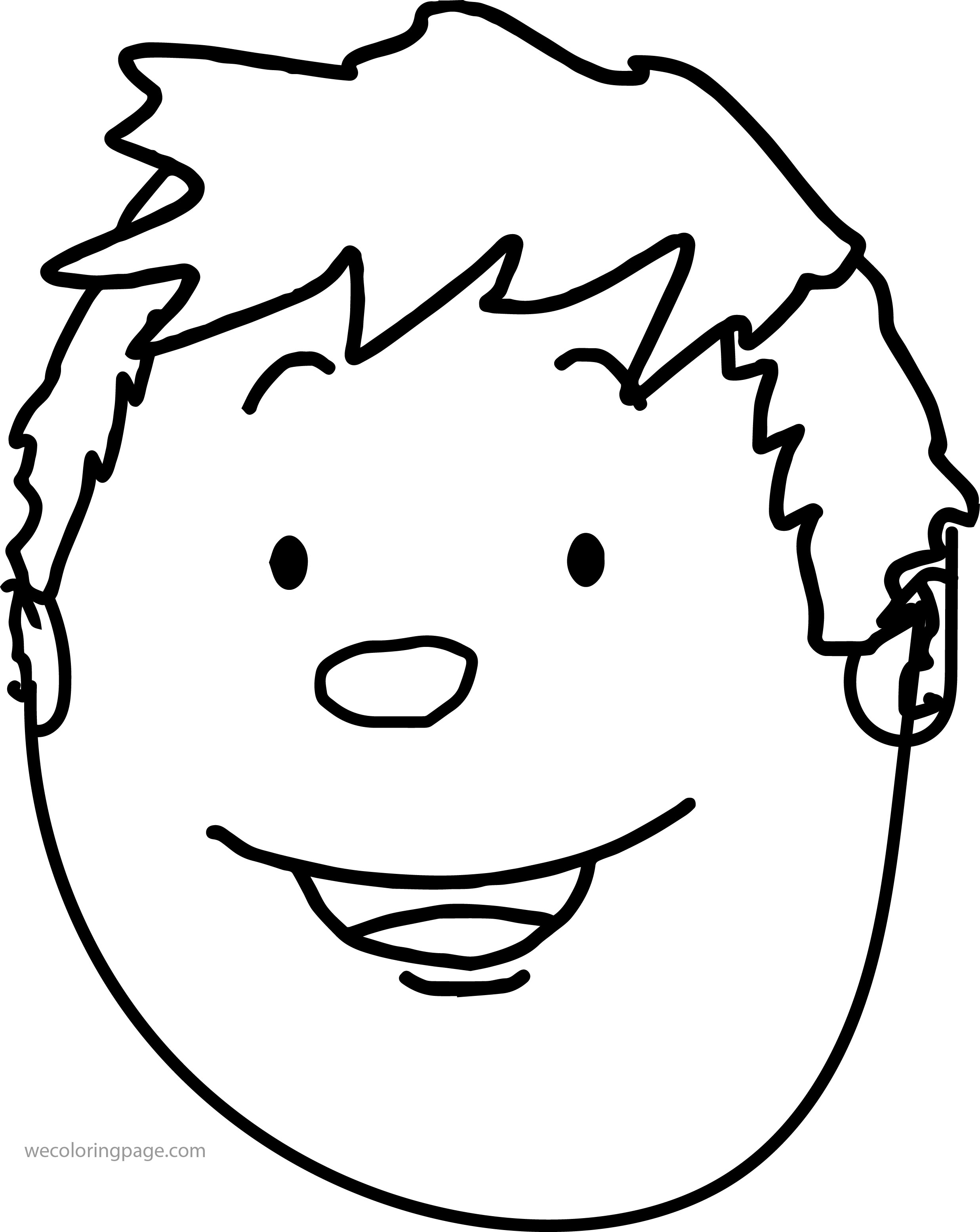 boy hair coloring pages - photo#18