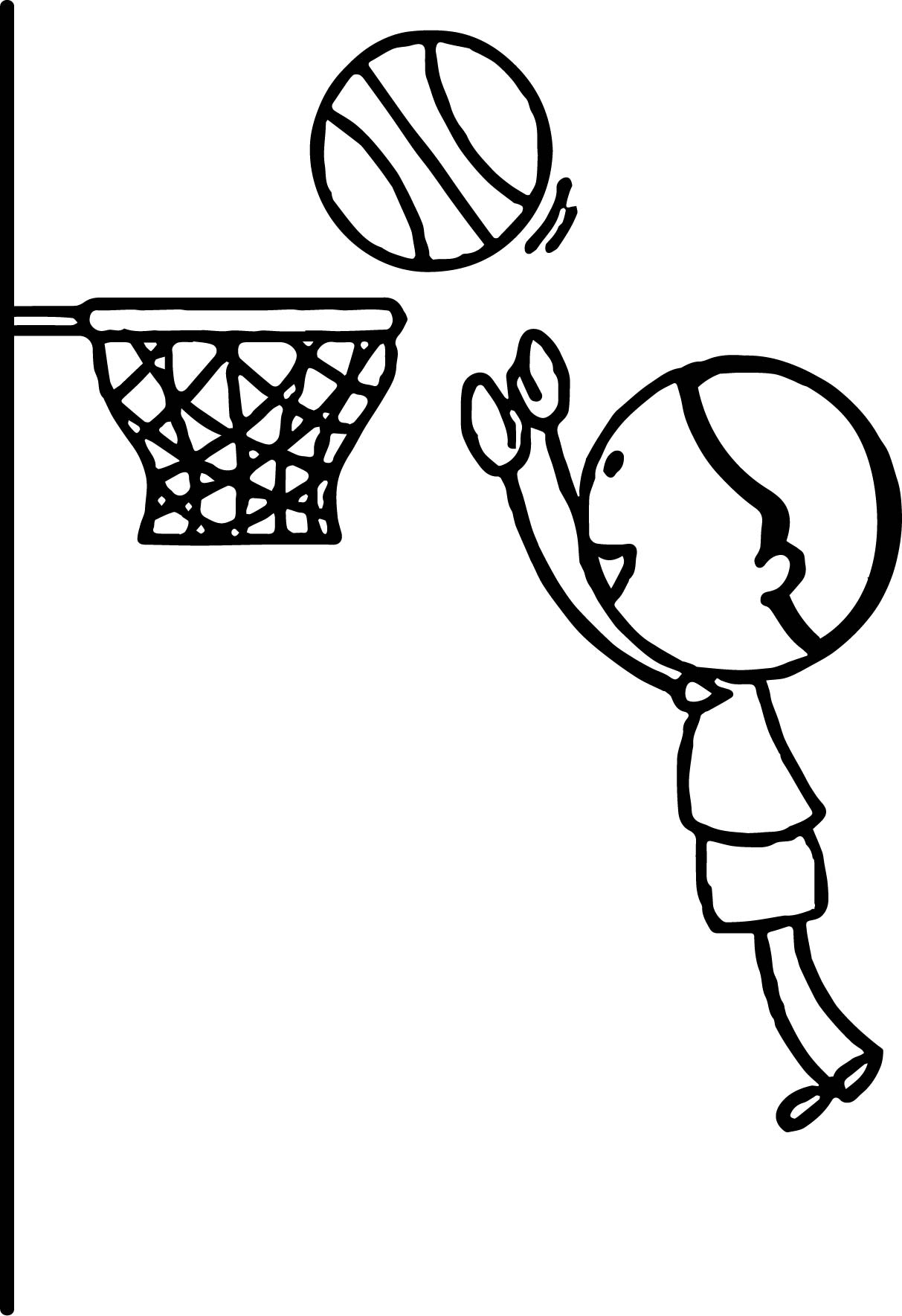 Basketball Hoop Coloring Sheet