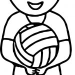 Boy Playing Volleyball Coloring Pages