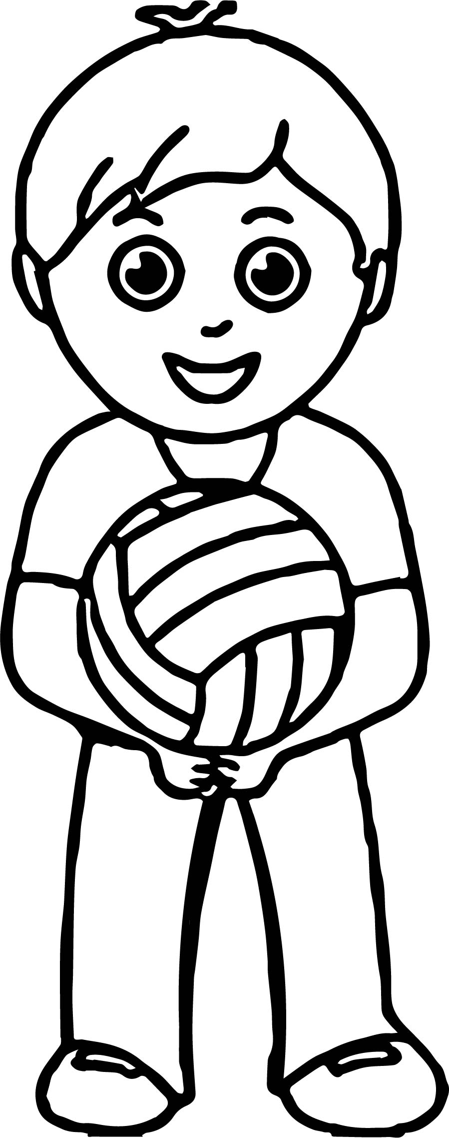 boy playing volleyball coloring pages wecoloringpage