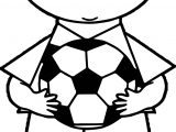 Boy Soccer Player Playing Football Coloring Page