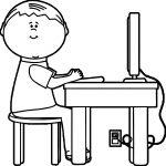 Boy Waiting Playing Computer Games