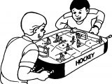 Boys Play Hockey Board Coloring Page