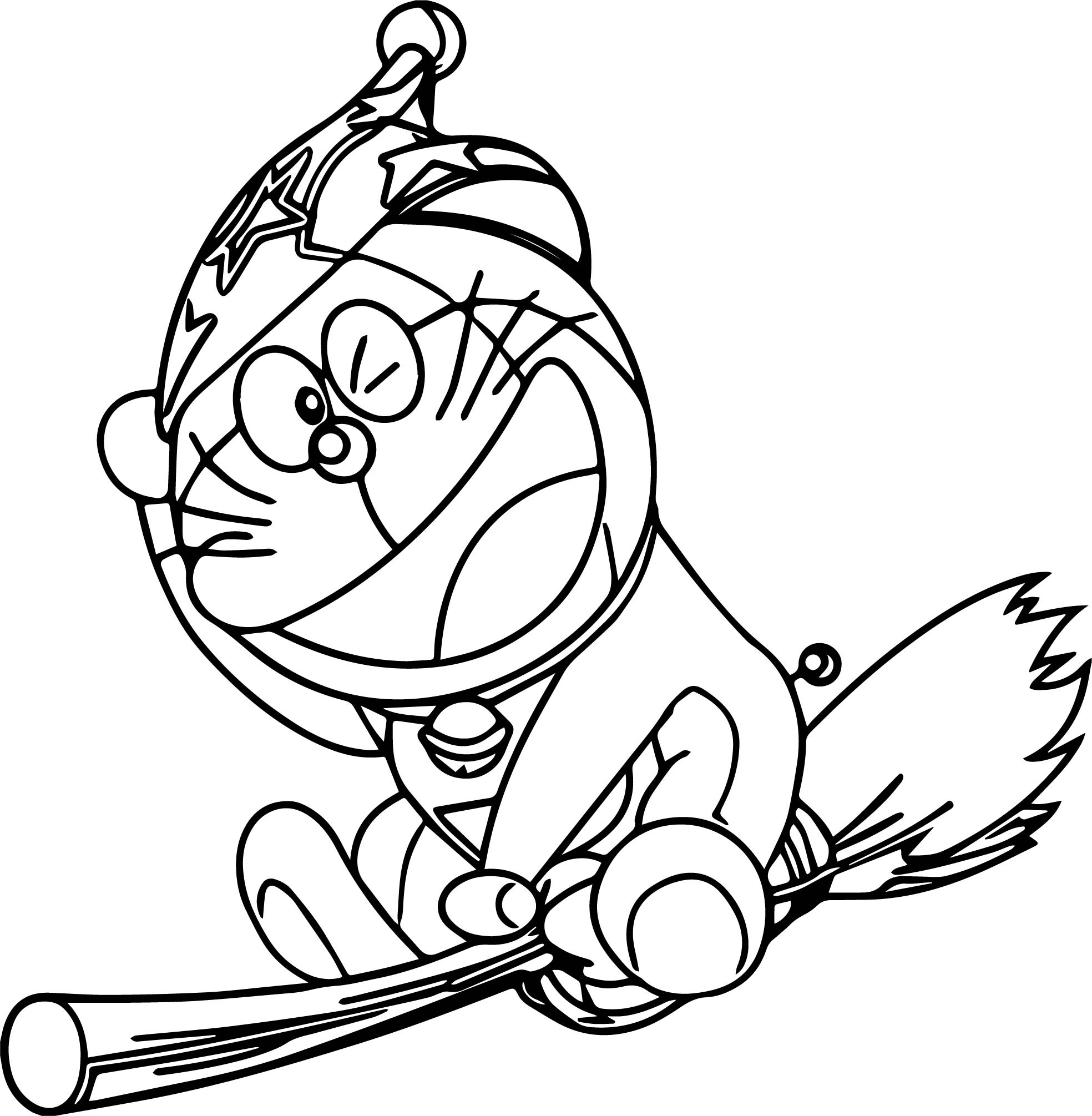 Bratz Doraemon Witch Coloring Page