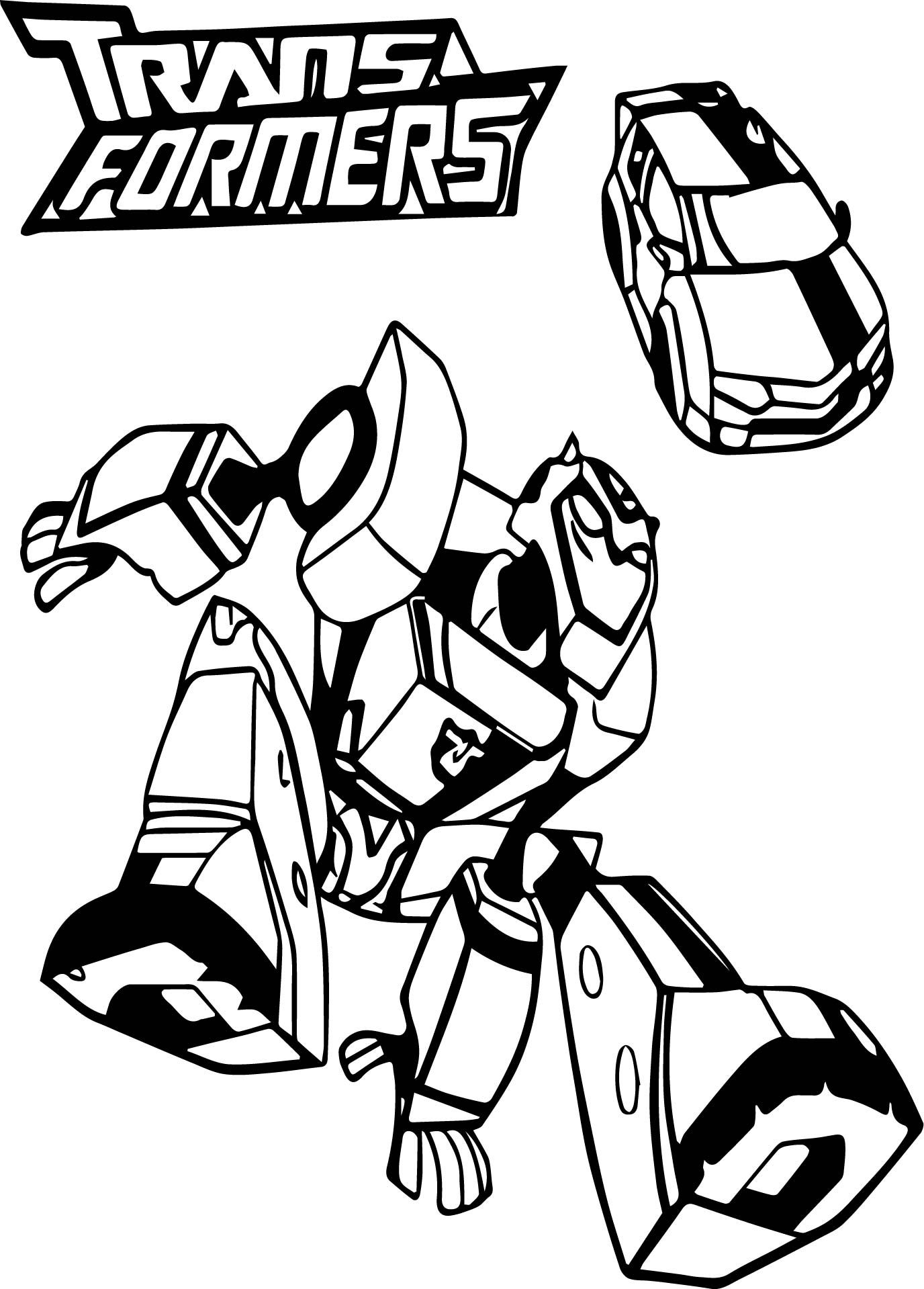 transformer bumblebee car coloring pages - photo#8