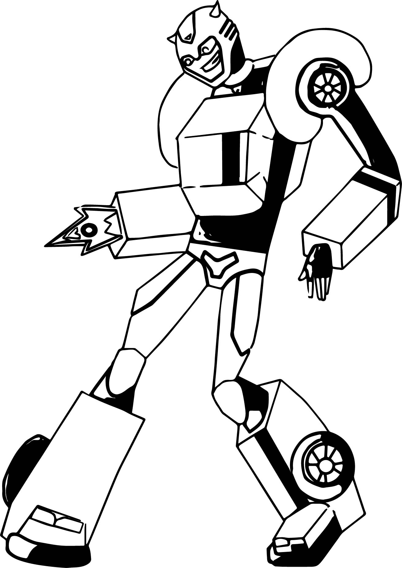 Bumblebee fire transformer coloring page for Transformers animated coloring pages