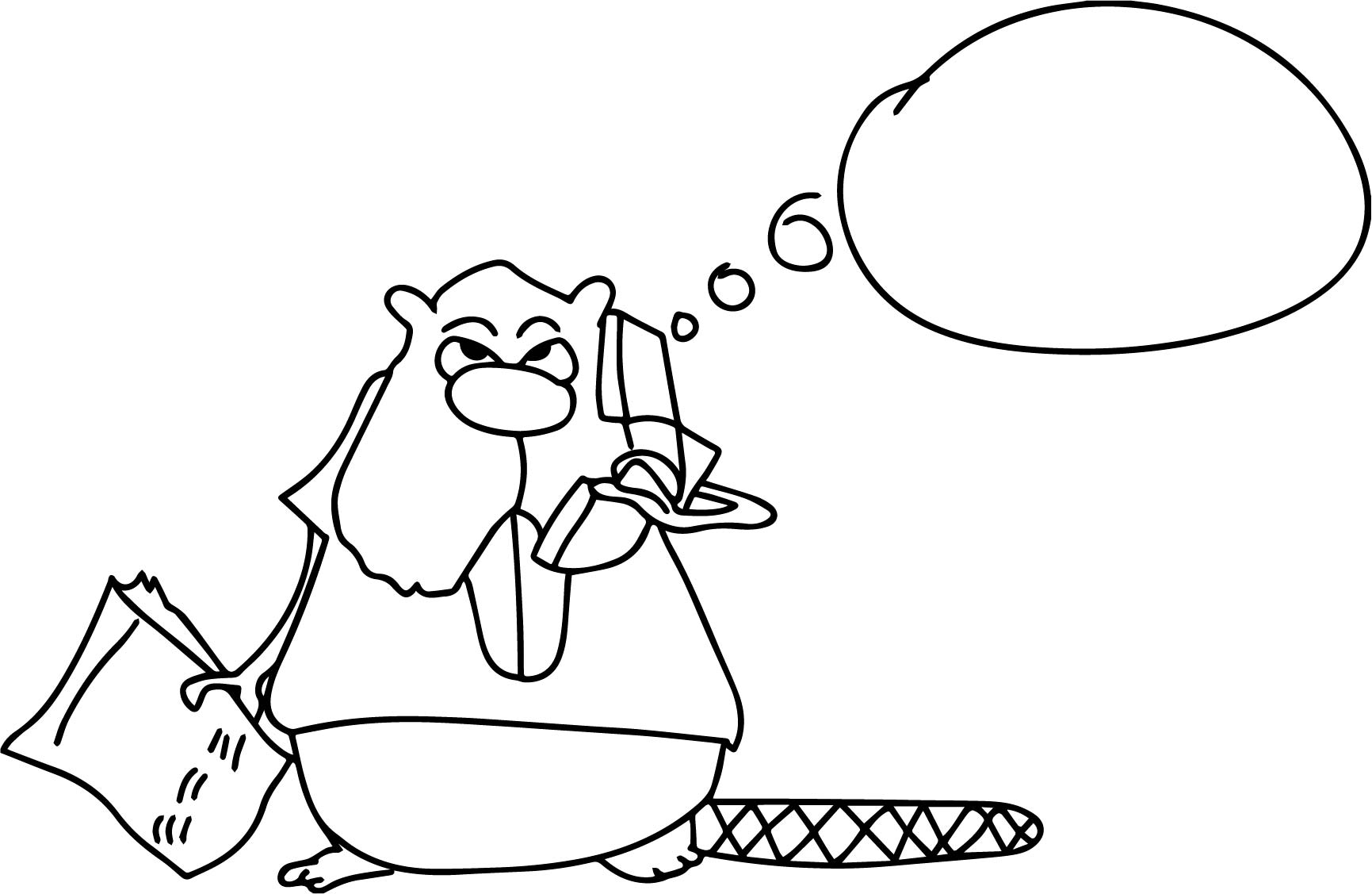 Canada Squirrel Telephone Coloring Page