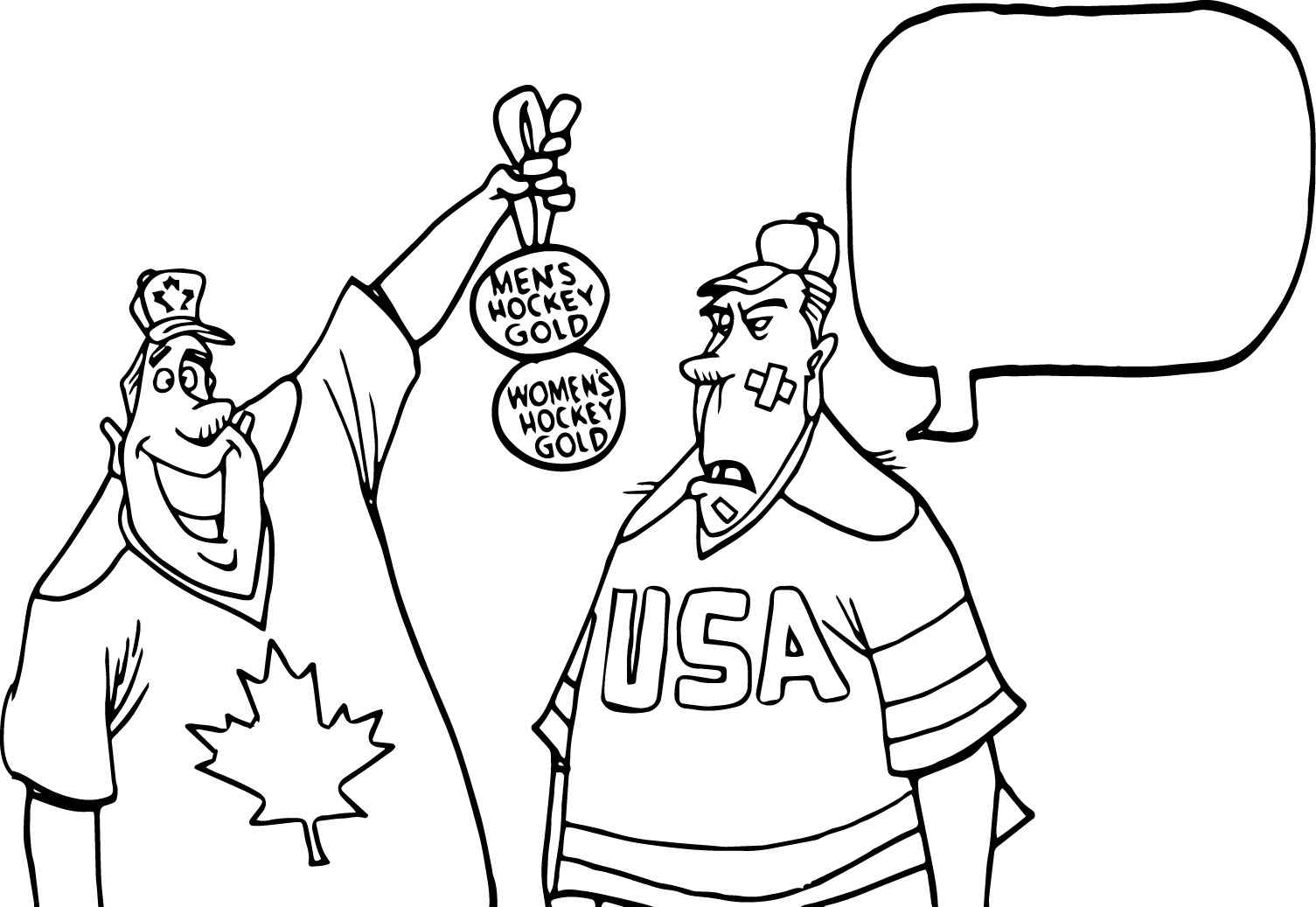 Canada Two Man Speak Coloring Page