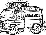 Cartoon Ambulance Coloring Page