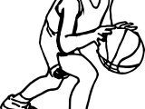 Cartoon Boy Playing Basketball Coloring Page