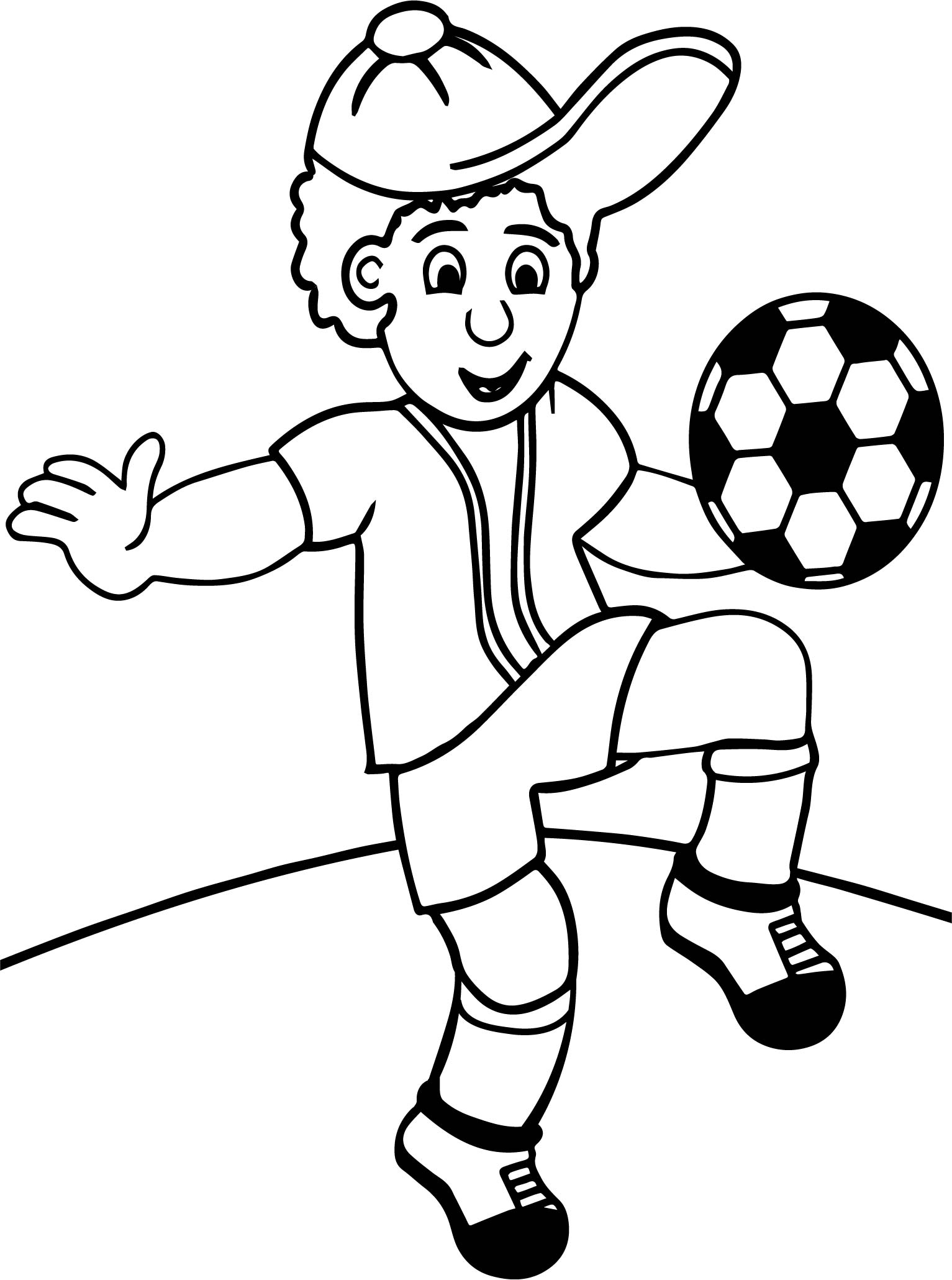 Running football player coloring pages