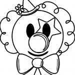 Cartoon Clown Face Coloring Page