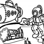 Cartoon Underwater Adventure Coloring Page