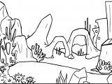 Cartoon Underwater Background Coloring Page