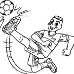 Cascao Boy Kicking Ball Coloring Page
