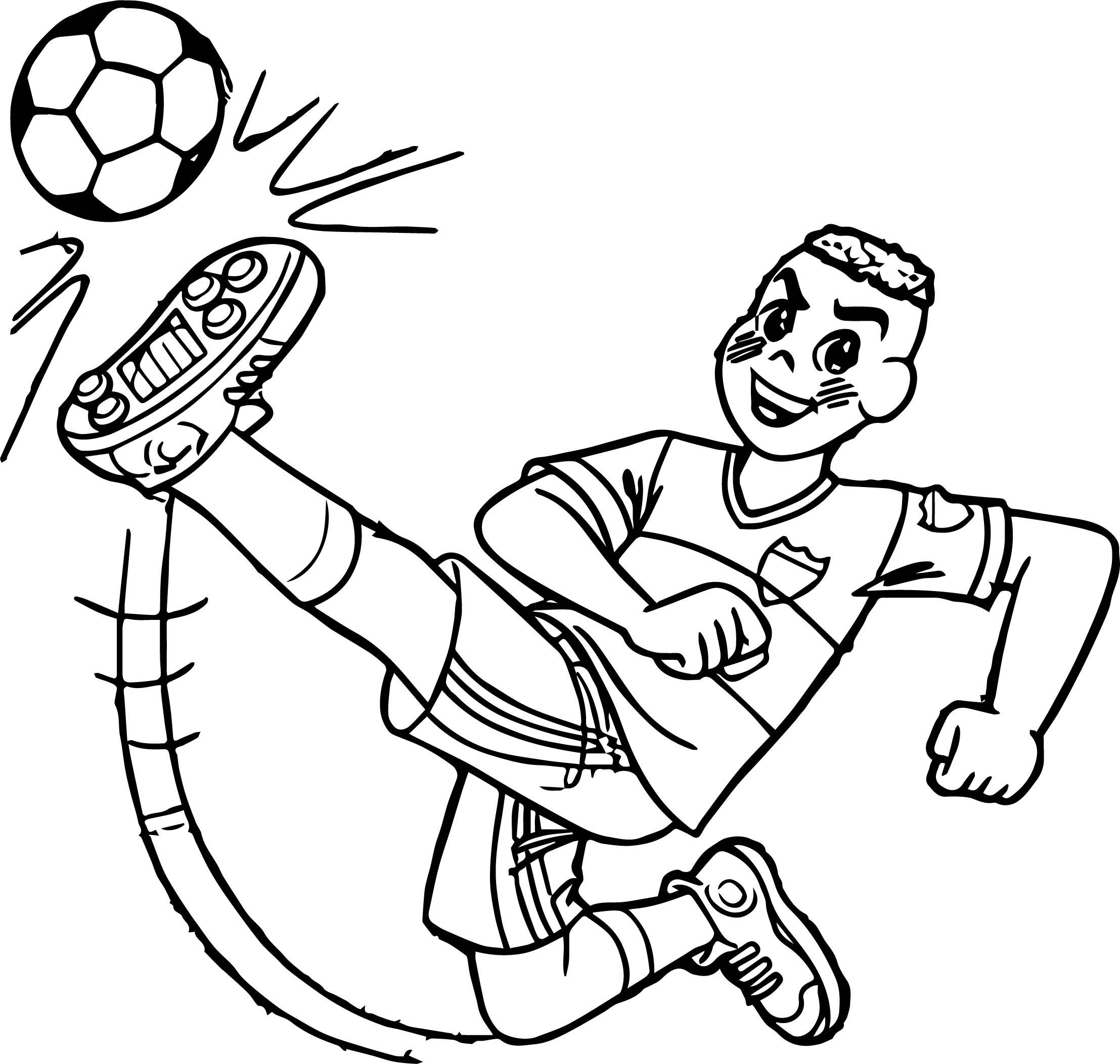 Cascao Boy Kicking Ball Coloring Page Wecoloringpage