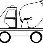Cement Toy Car Coloring Page
