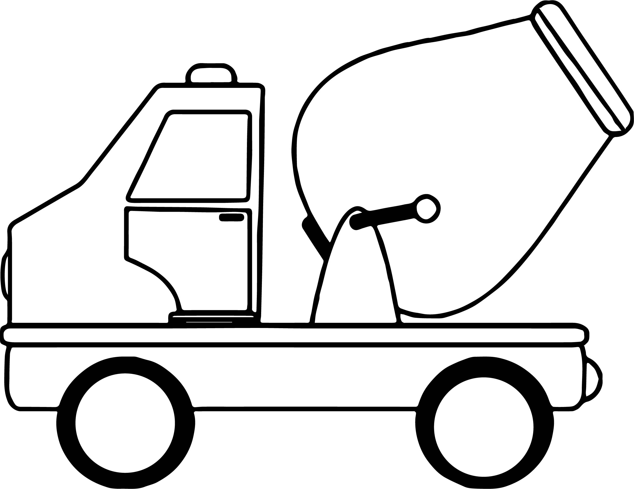 cement toy car coloring page wecoloringpage
