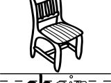 Chair Abc Teach Coloring Page