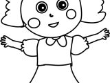 Child Happy Girl Coloring Page