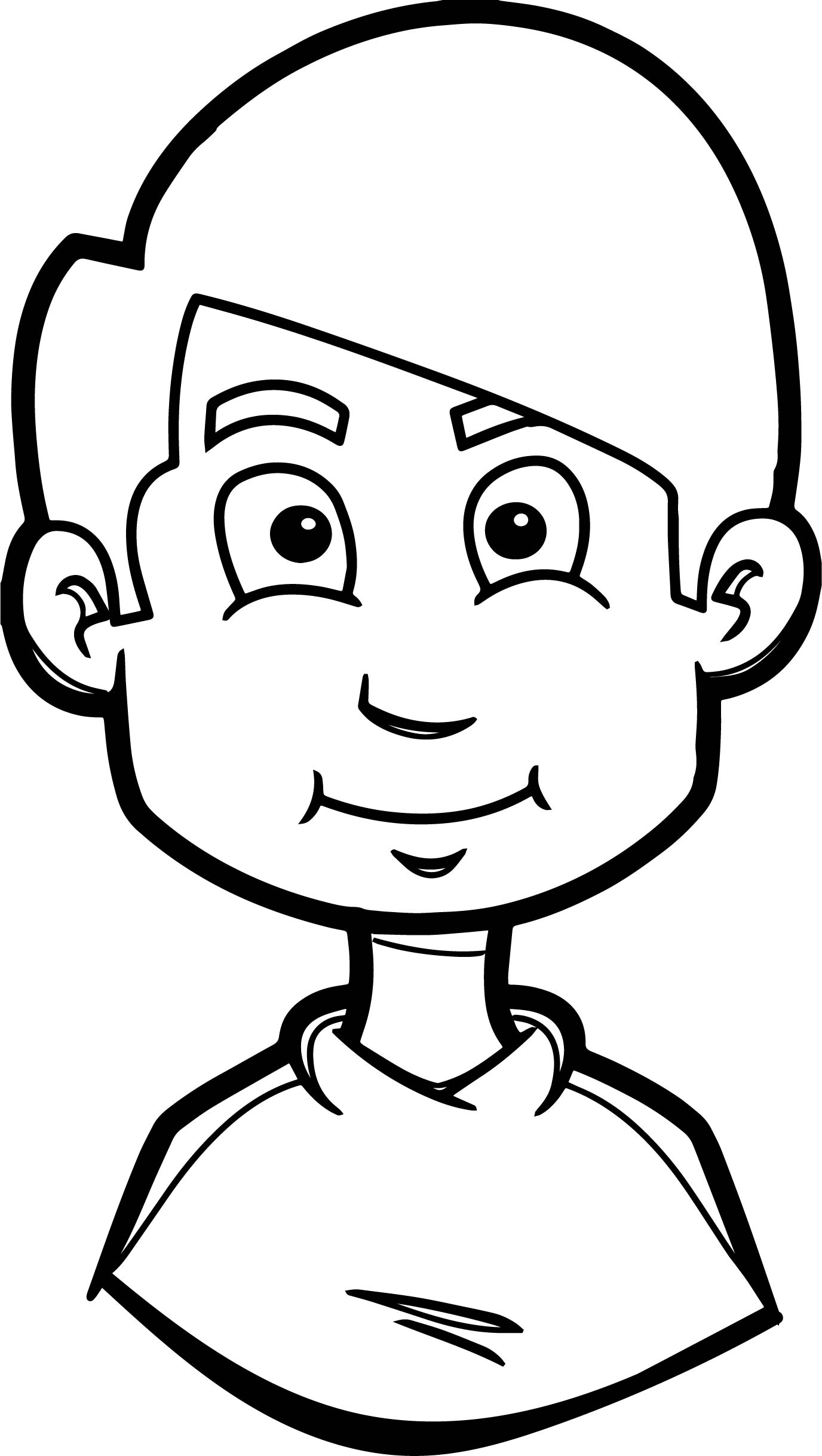 coloring book pages of childrens faces | Child Smiling Face Cartoon Coloring Page | Wecoloringpage.com