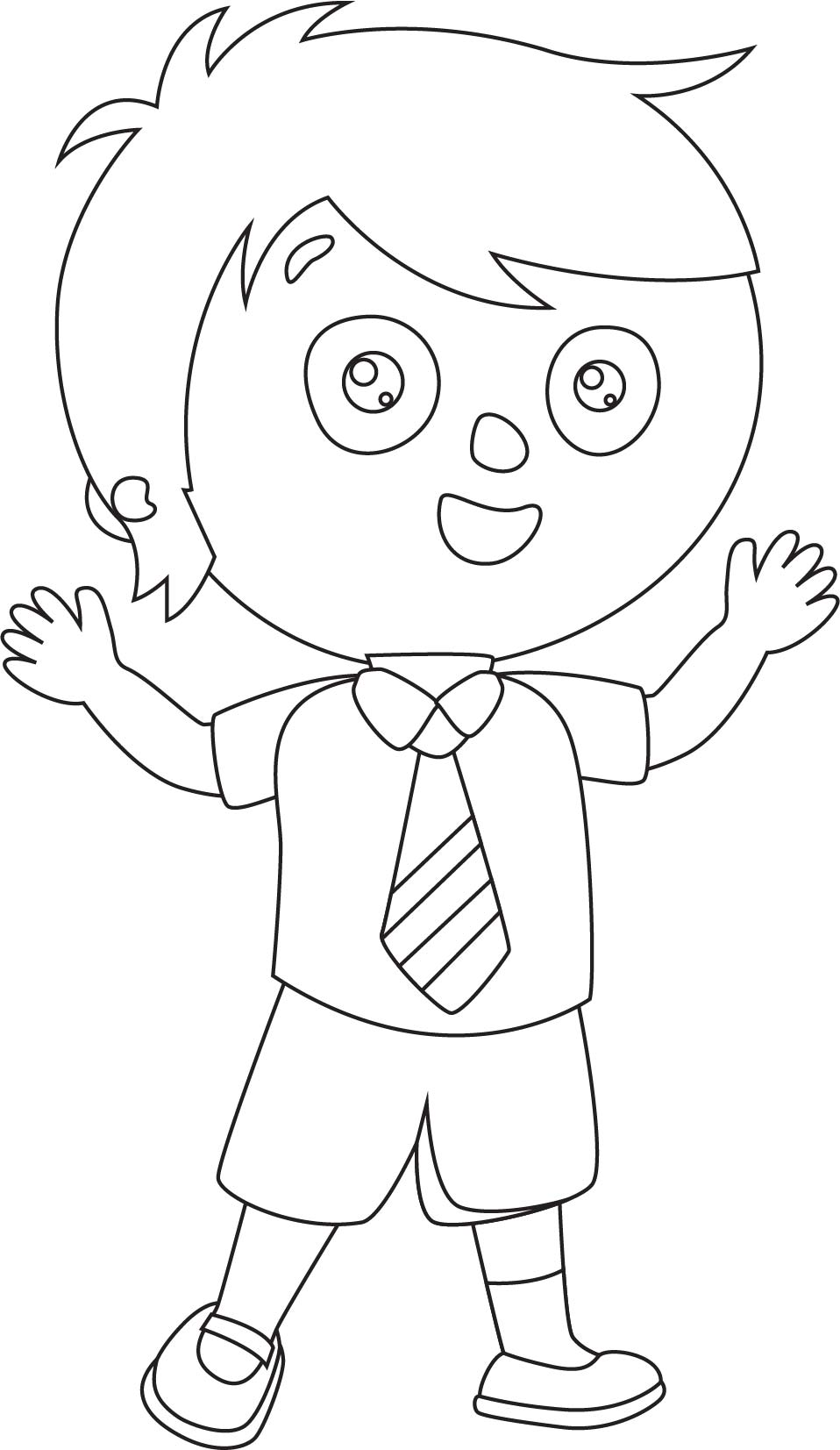 Child Student Coloring Page