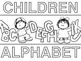 Children Alphabet Coloring Page
