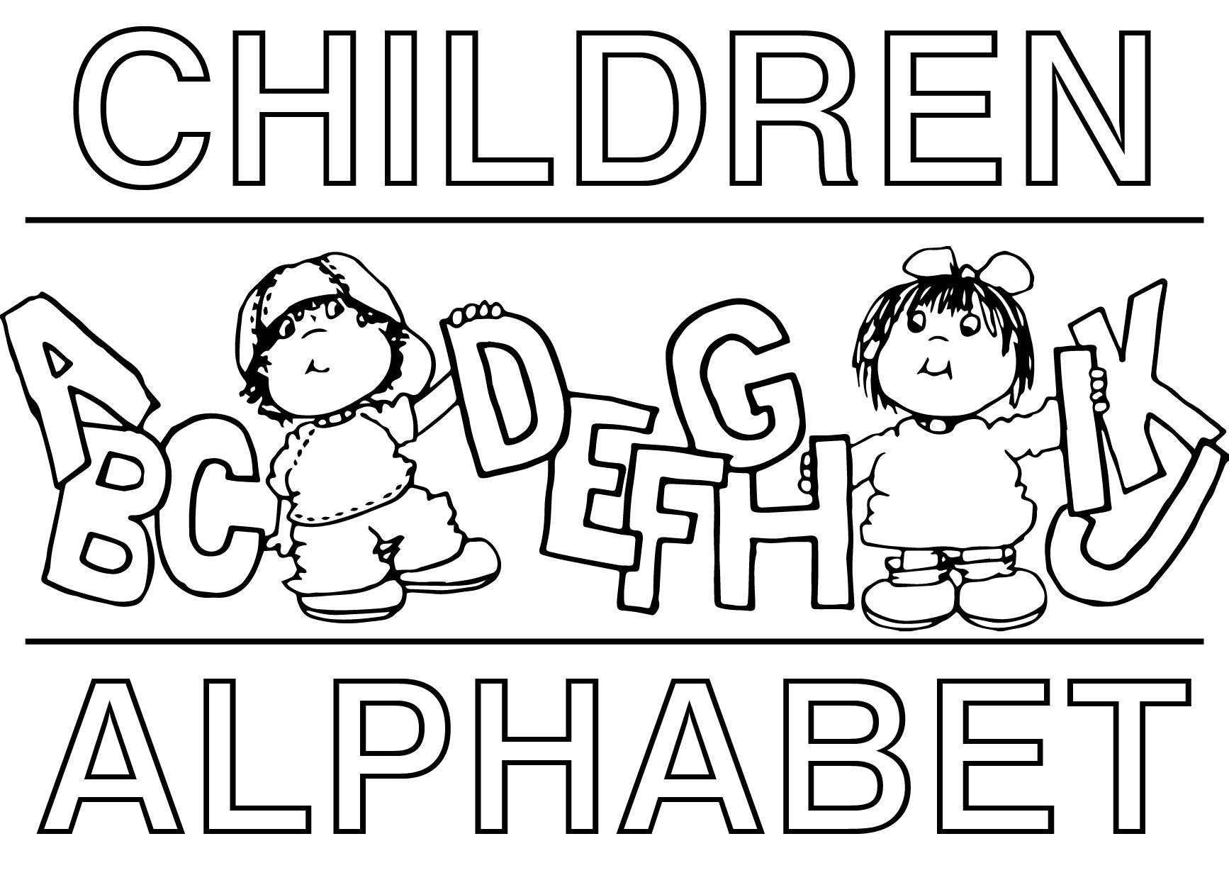 Children Alphabet Coloring Page