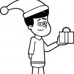 Chrismas Gift Kevin Coloring Page