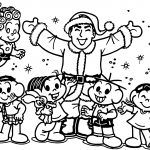 Chrismas Turma Da Monica Coloring Page