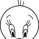 Circle Tweety Coloring Page