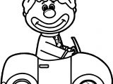 Circus Clown Car Coloring Page